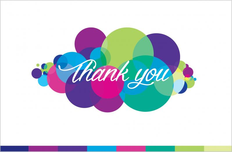 Thank You Card Personalised Birthday Thank You Cards