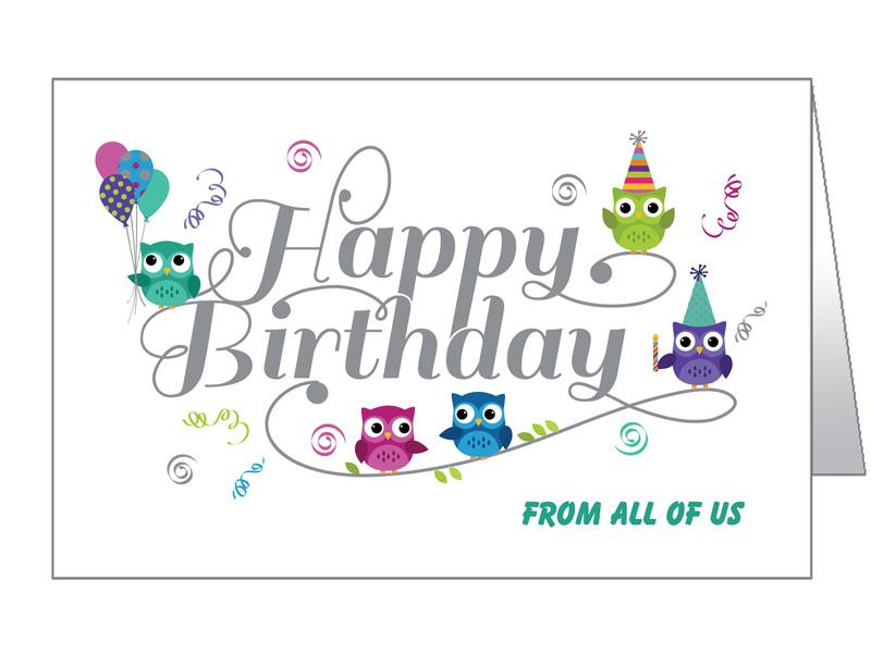 Business birthday cards corporate bulk birthday cards birthday owls m4hsunfo Images