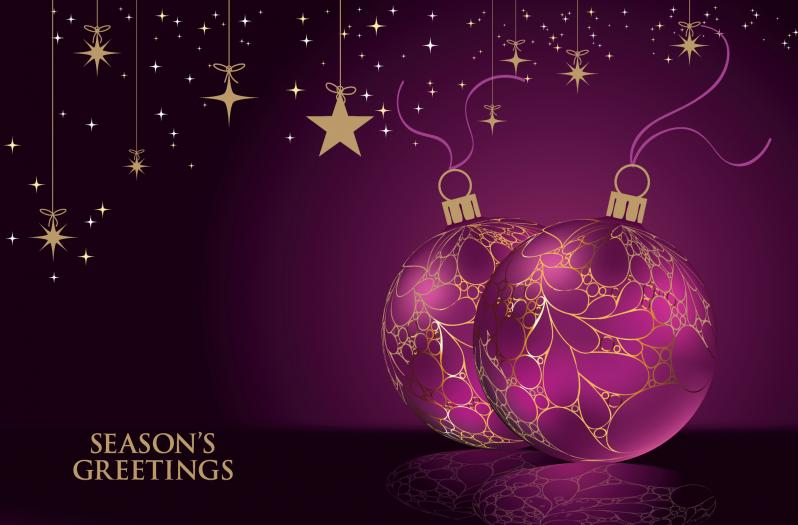 Corporate greeting cards corporate charity christmas cards glowing baubles m4hsunfo