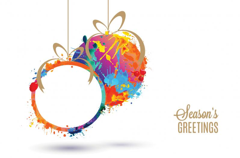 Corporate greeting cards corporate charity christmas cards watercolour baubles reheart Gallery