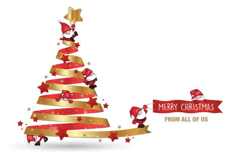 Corporate christmas cards business christmas cards wholesale playful santas reheart Choice Image