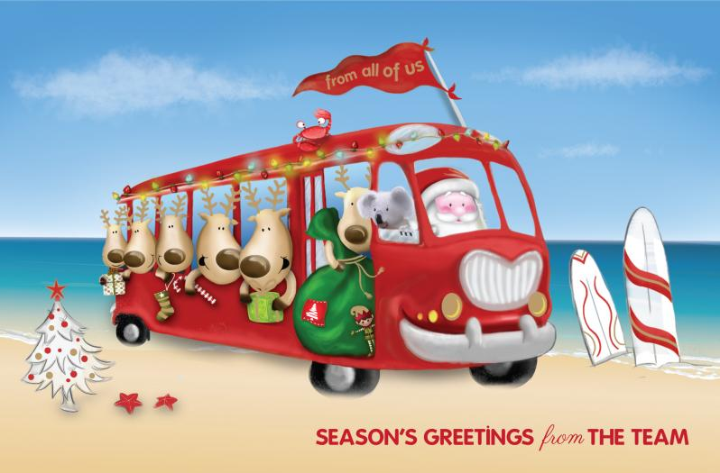 Corporate greeting cards corporate charity christmas cards santas team reheart Images